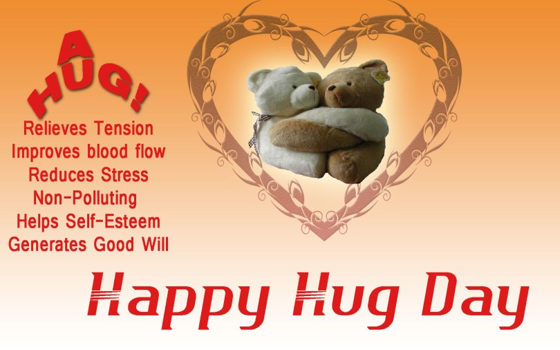 Awesome Hug Day Quotes Greeting Image