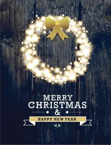 Awesome Merry Christmas And Happy New Year Picture