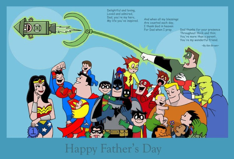 Awesome Superhero Wallpaper Happy Father's Day