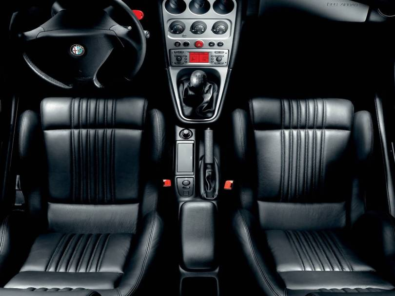 Awesome inside view Black colour Alfa Romeo GTV Car
