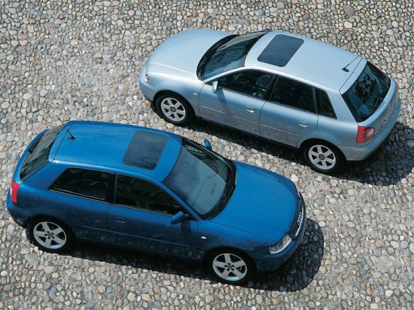 Awesome view of 2 Audi A3 cars