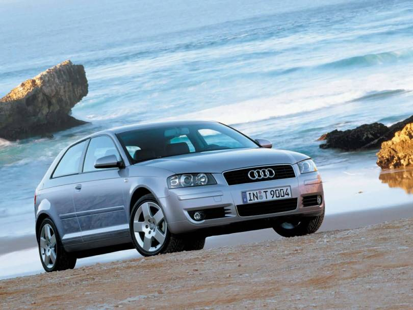 Awesome view of silver Audi A3 car