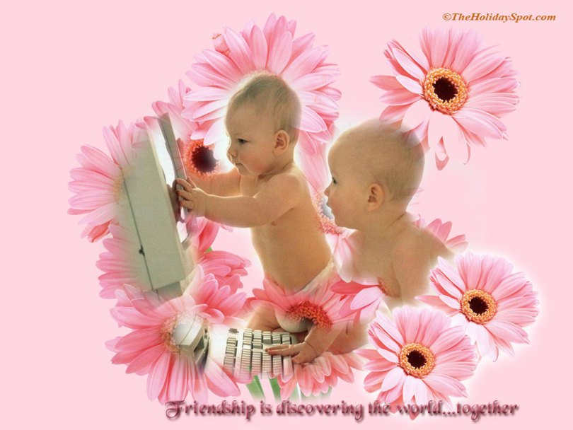 Babies Friendship Day Wishes Image