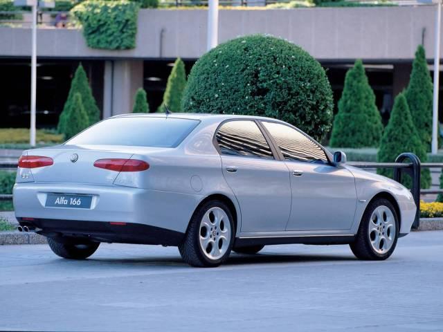 Back side of silver Alfa Romeo 166 Car