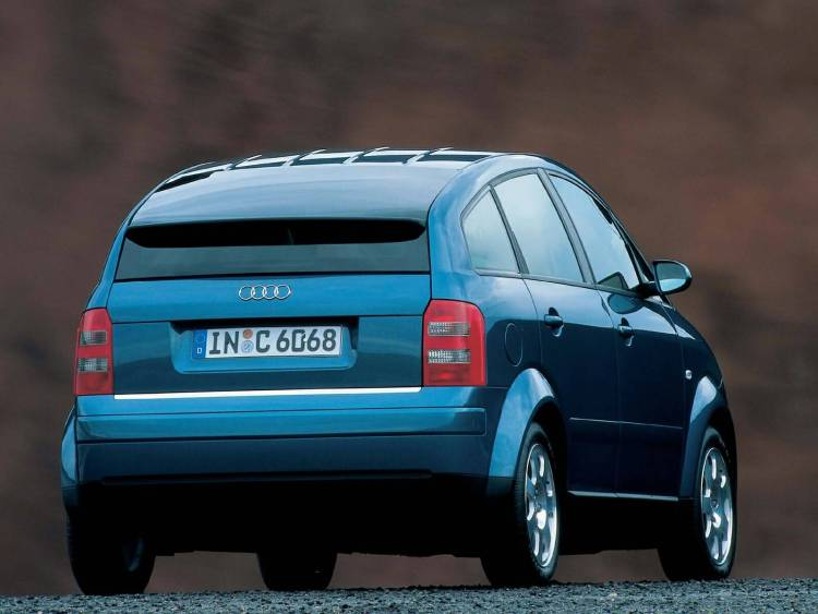 Back side view of Great Audi A2 Car