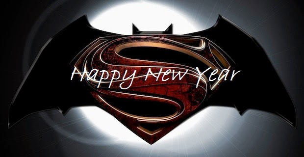 Batman Vs Superman Wishes Happy New Year Greetings Image