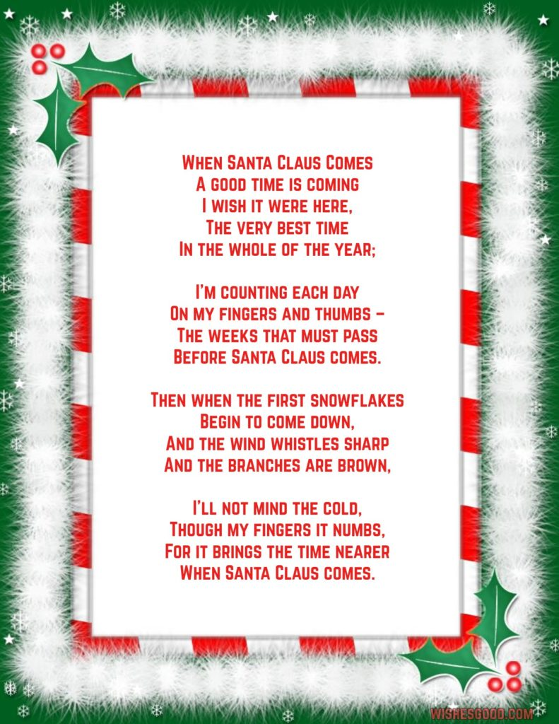 Merry Christmas Wishes Image Beautiful Christmas Poem