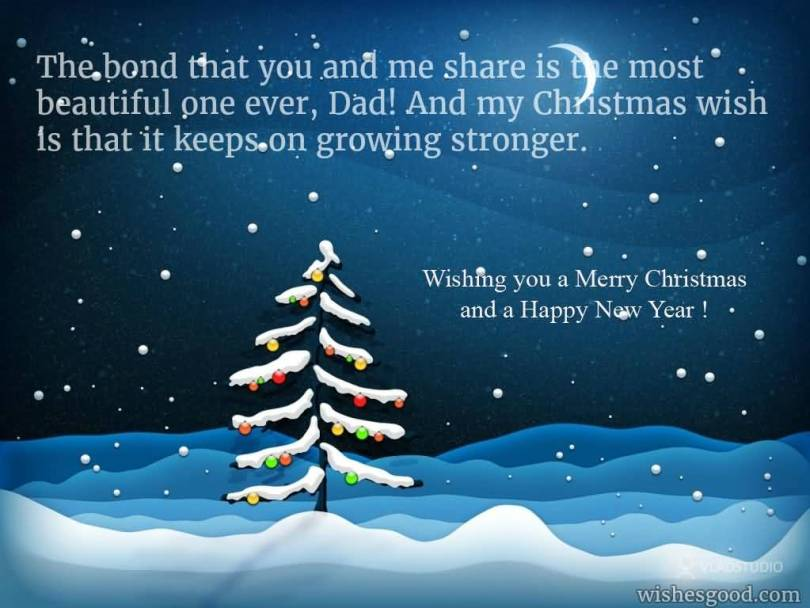 Beautiful Christmas Wishes For Dear Dad