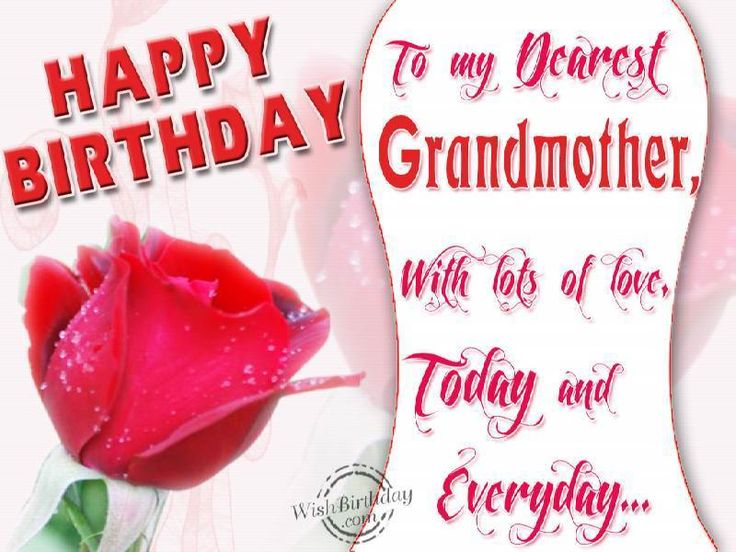Beautiful Grandmom Birthday Wishes Greetings Image