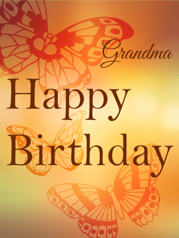 Beautiful Grandmother Happy Birthday Greeting Card Image