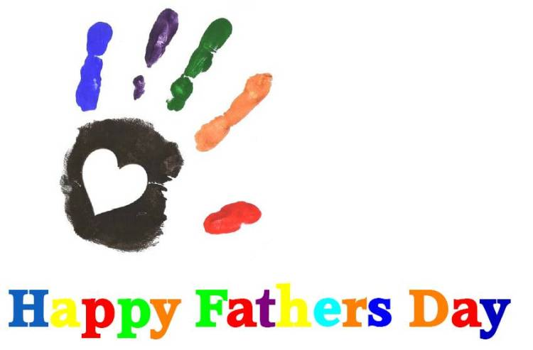 Beautiful Happy Father's Day Colorful Greetings Image