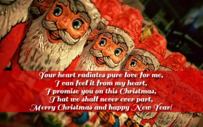 Beautiful Message Merry Christmas & Happy New Year Image
