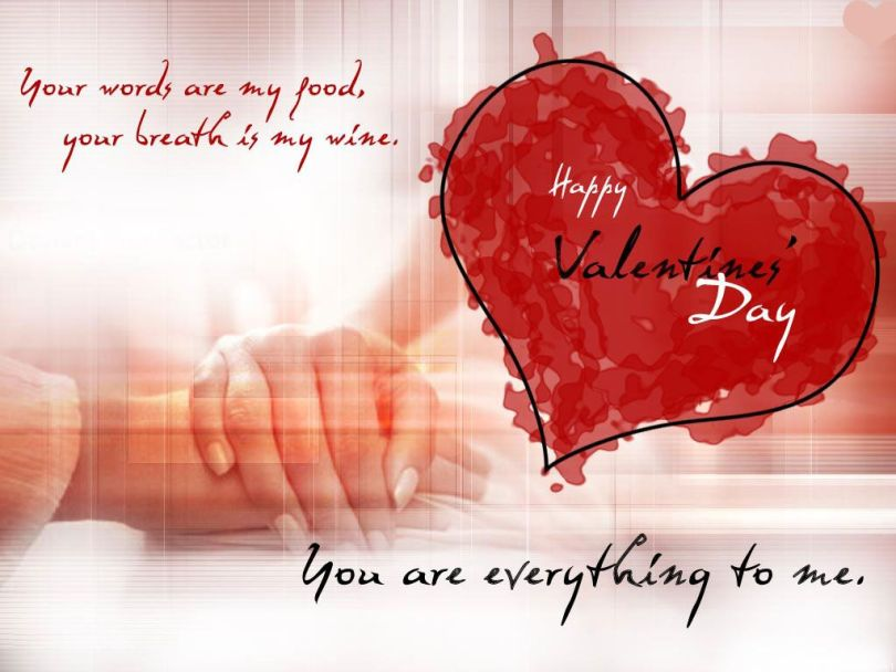 Beautiful Quotes Happy Valentine Day Greetings Image