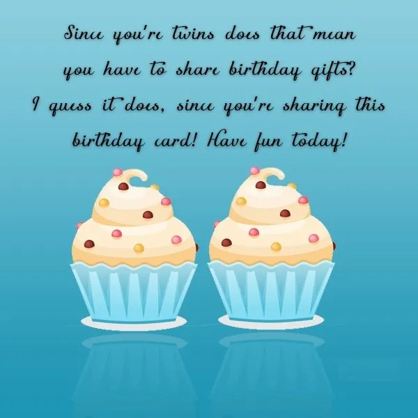 Beautiful Twins Birthday Wishes Message Image