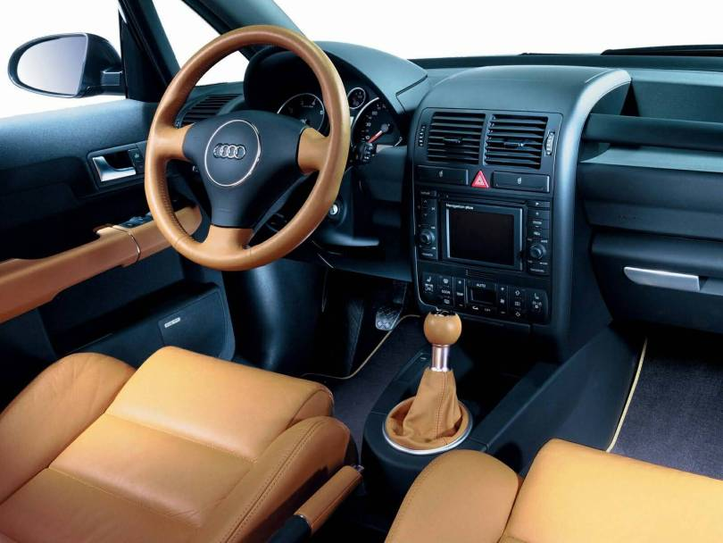 Beautiful inside view of Audi A2 Car
