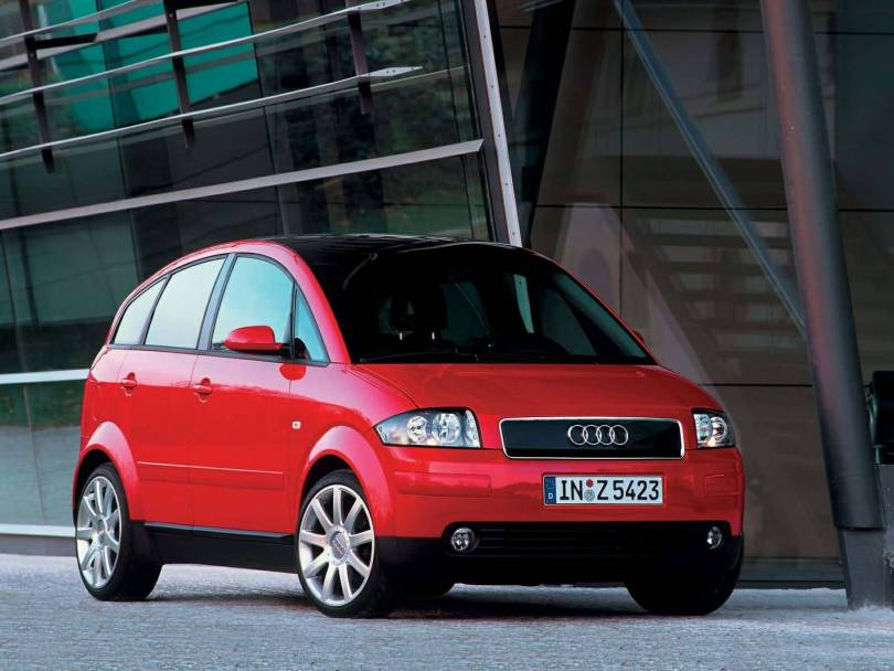 Beautiful red Audi A2 Car