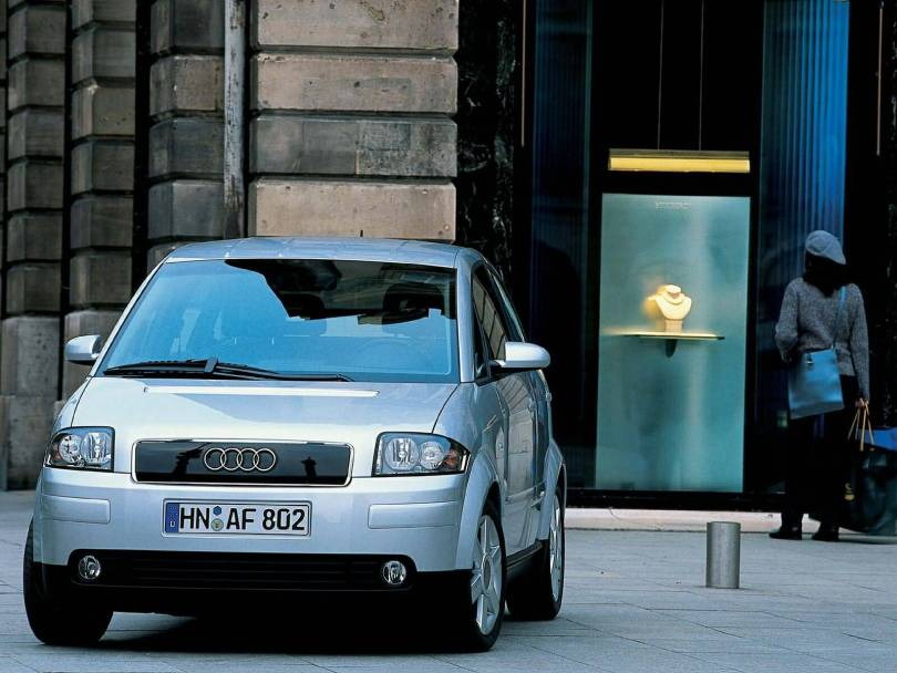 Beautiful silver Audi A2 car