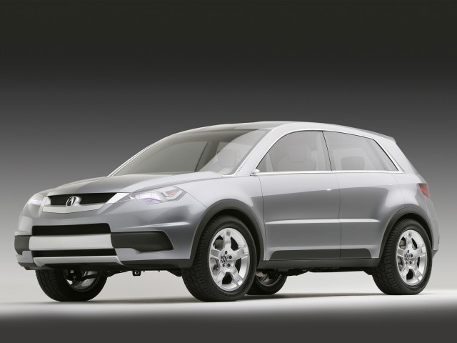 Beautiful black color silver Acura RDX Concept Car