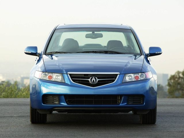 Beautiful blue front side of Acura TSX car