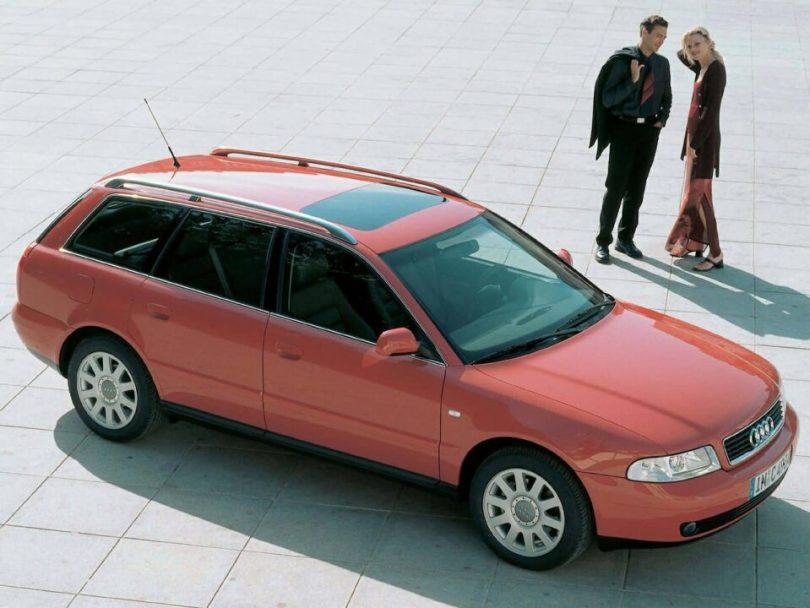 Beautiful red Audi A4 Older car