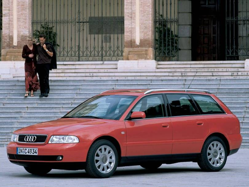 Beautiful red color Audi A4 Older car