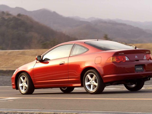 Beautiful red color Acura RSX Car
