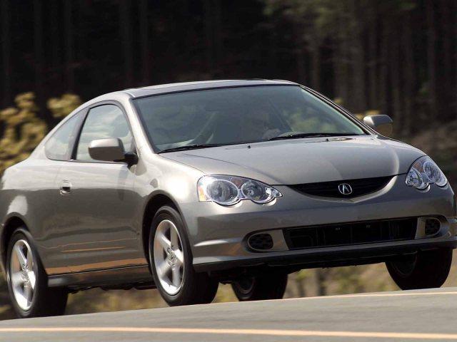 Beautiful silver color Acura RSX Car