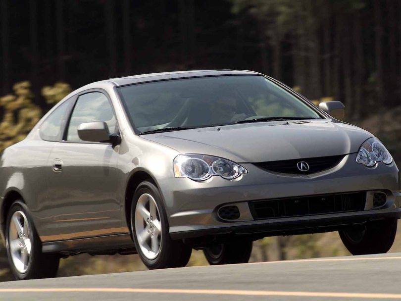 Beautiful silver color Acura RSX Car