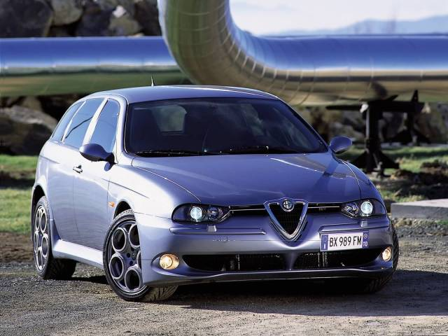 Beautiful silver colour Alfa Romeo 156 GTA Car for wallpaper