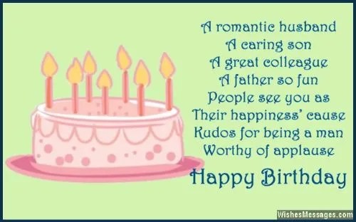 Best Birthday Quotes Message For Happy Husband Birthday Wishes Image