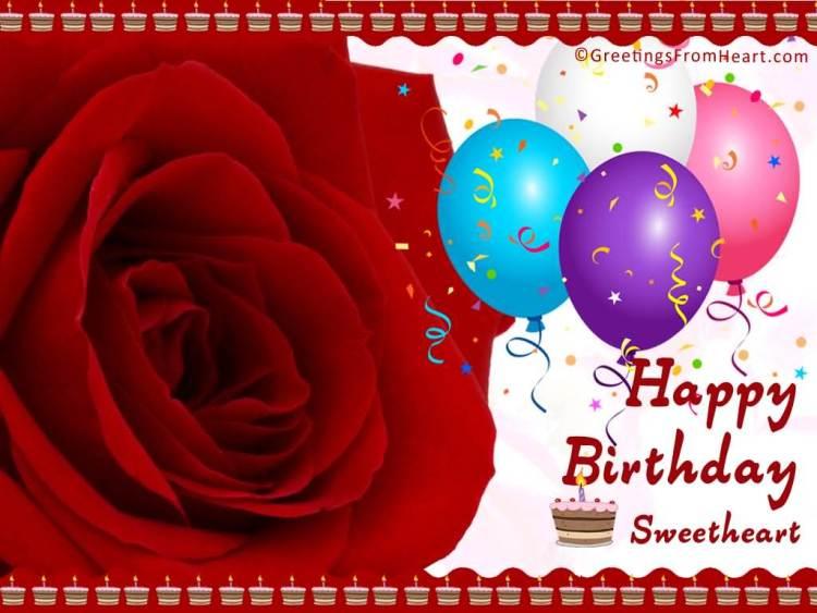 Best Happy Birthday Sweetheart Wishes Image