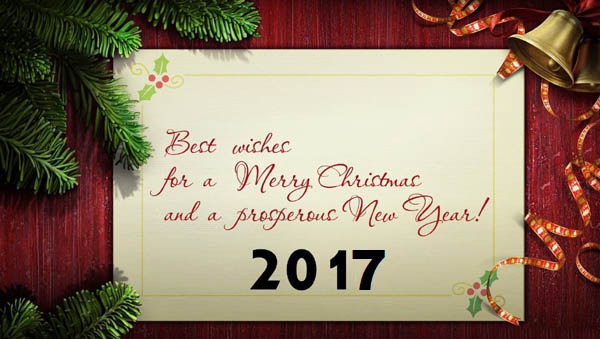 Best Wishes For A Merry Christmas And A Prosperous New Year 2017 Wishes Wallpaper