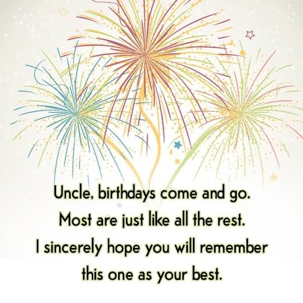 Best Wishes Happy Birthday Uncle Greetings Image