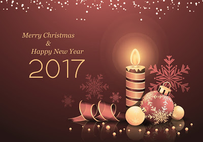 Best Wishes Merry Christmas & Happy New Year 2017 Image