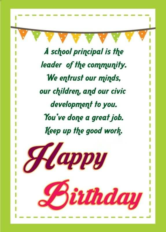 birthday of principal Principal's birthday 11 th january 2016:- the teachers were exulted and exited to celebrate their principal's birthday we began this special day by a prayer we wished that god shower his blessings on her and we also thanked god for being gifted with such a dynamic principal sr sheela.