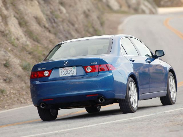 Blue Beautiful Acura TSX car back side view