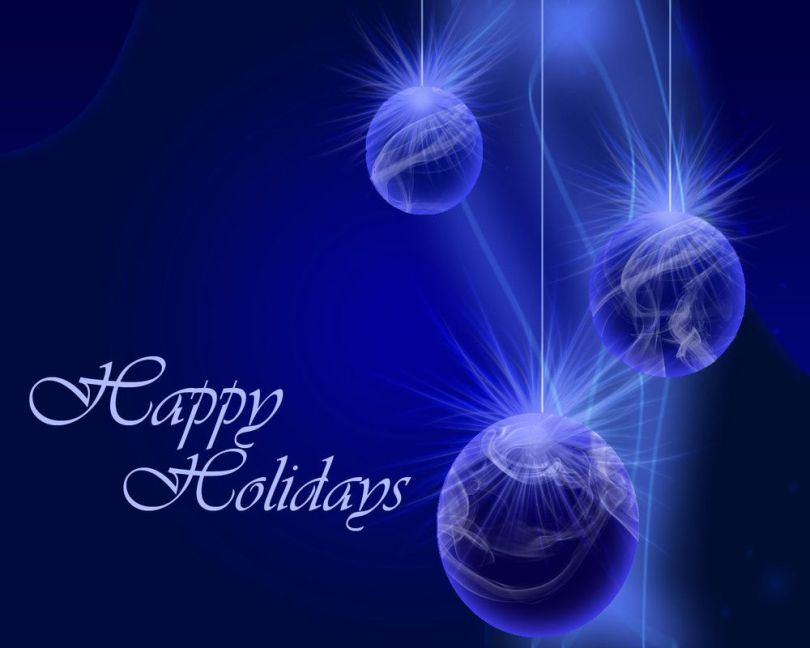 Blue Color Best Greetings Happy Holiday Wishes Image