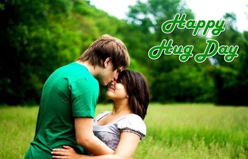 Celebrate Happy Hug Day Couple