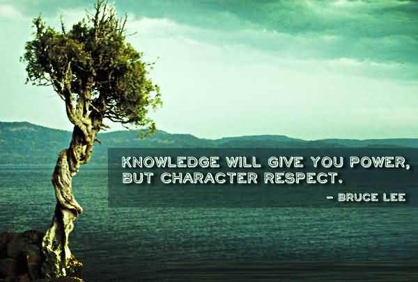 Character Quotes Knowledge Will Give You