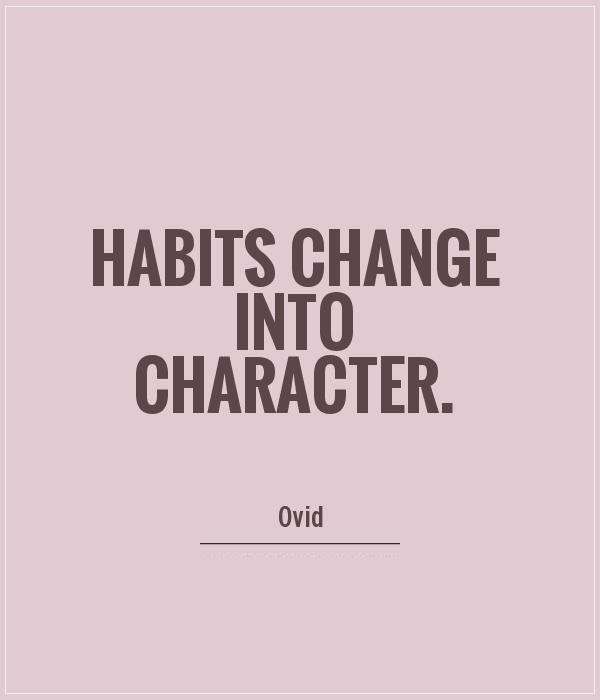 Character Sayings Habits Change Into Character   Ovid