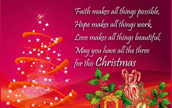 Christmas Message To Friends