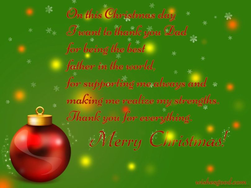 Christmas Poem Image For Father