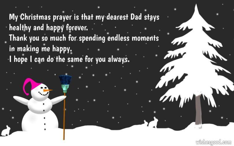 Christmas Prayer To My Dad