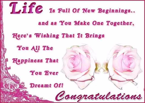 Congratulation On Your Wedding Greeting & Wishes Image