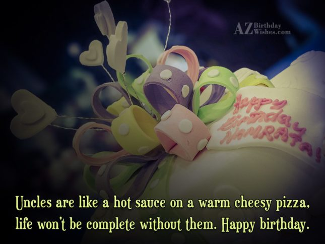 Cool Birthday Message To My Dear Uncle Image