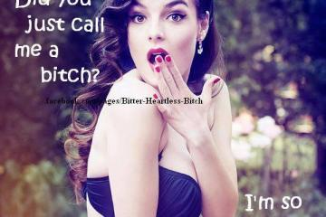 Crazy Bitch Quotes Did you just call me a bitch im so glad you noticed