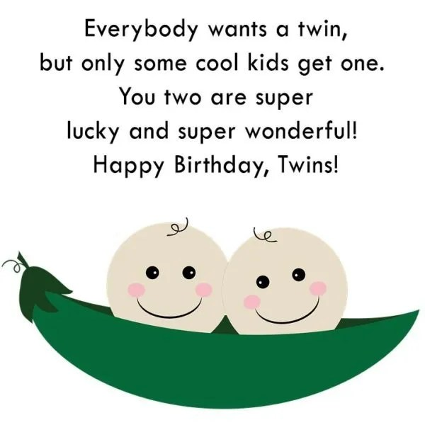 Cut Happy Birthday Twins Wishes Message Image