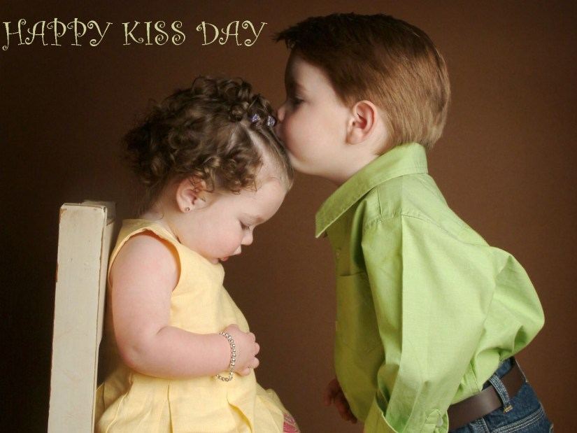 Cute Baby Kisses Image On Special Kiss Day