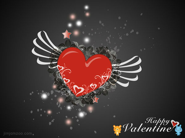 Cute Happy Valentine Day Wishes Wallpaper