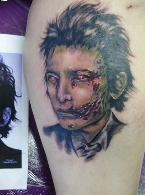 Cutest Celebrity Zombie Face Tattoo